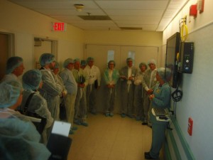 HCVN group Gemba visit to University Hospital OR huddle board.  What went wrong today?